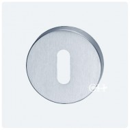round escutcheon std keyway satin chrome