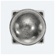 Finesse Design Pewter Beamish Knobs on Square Rose