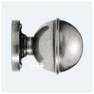 Finesse Design Pewter Beamish Knobs on Round Rose