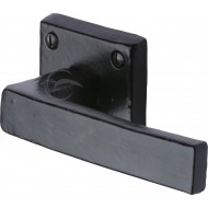 Square Black Modern Lever Handles On Rose