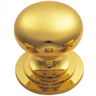 Polished Brass Cupboard Knob