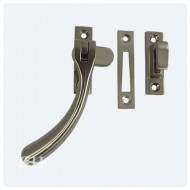 satin nickel casement window fasteners with hook and mortice