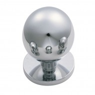 chrome cupboard knob