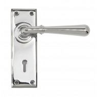 Anvil Regency Chrome Newbury Lever Handles On Key Backplate