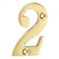 brass door numerals