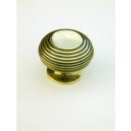large beehive cupboard knob brass