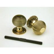 beehive door knobs brass