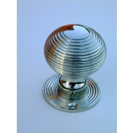 beehive door knobs nickel