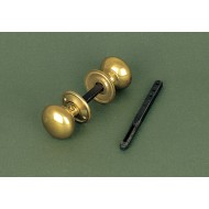cottage door knobs brass