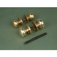 large version cottage door knobs brass
