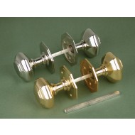 octagonal mortice knobs nickel
