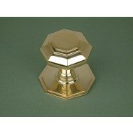 centre door knob brass