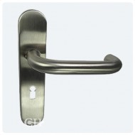 stainless steel levers on backplate