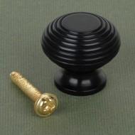Ebony Beehive Cupboard Knobs