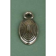 beehive escutcheon aged nickel