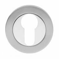 dual finish euro escutcheon
