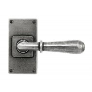 Finesse Pewter Fenwick Handles on Jesmond Plain Backplate
