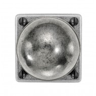 Finesse Design Pewter Pelton Knobs on Square Rose