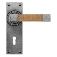 finesse eden with oak pewter lever handles