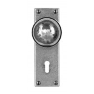 Finesse Design Pewter Pelton Knobs on Keyhole Backplate