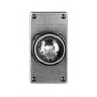 Finesse Design Pewter Pelton Knobs on Jesmond Latch Backplate