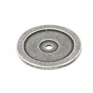 Finesse Pewter Cabinet Door Knob Base Roses