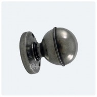 Finesse Design Pewter Pelton Knobs on Round Rose