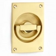 flush latch handle polished brass