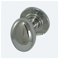 polished chrome oval door knobs
