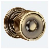 antique brass unlaquered reeded door knobs