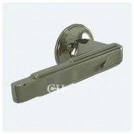 polished nickel art deco lever door handles