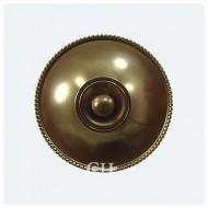 Antique Brass Unlaquered Bell Push