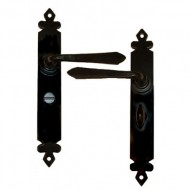 Cromwell Lever Handles Bathroom Backplate External Black