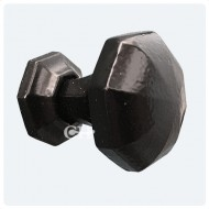 Anvil Octagonal Black Cupboard Door Knobs