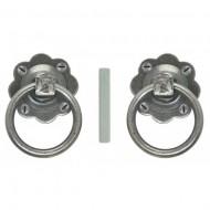 Ring Handle Door Knobs in Pewter