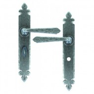 Cromwell Lever Handles Bathroom Backplate External Pewter