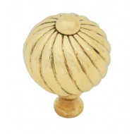 Small Swirl Cupboard Knob 32mm Brass