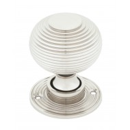 Polished Nickel Beehive Mortice Or Rim Door Knobs