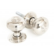 Polished Nickel Half Reeded Door Knobs