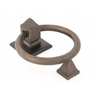 Aged Bronze Ring Door Knocker