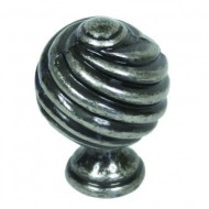 Twist Cupboard Knob 30mm Pewter