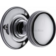 Richmond Period Door Knobs in Polished Chrome
