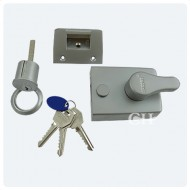 satin chrome yale type nightlatch