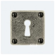 Finesse Design Square Pewter Keyhole Escutcheons