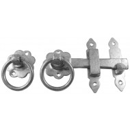 Kirkpatrick Ring Gate Latch in Pewter Finish