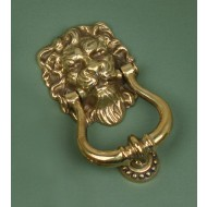 lions head knocker brass