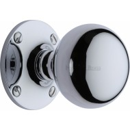 Westminster Large Victorian Knobs in Polished Chrome