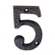 black antique door numeral