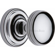 Whitehall Half Reeded Door Knobs in Polished Chrome