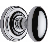 Chelsea Oval Door Knobs in Polished Chrome